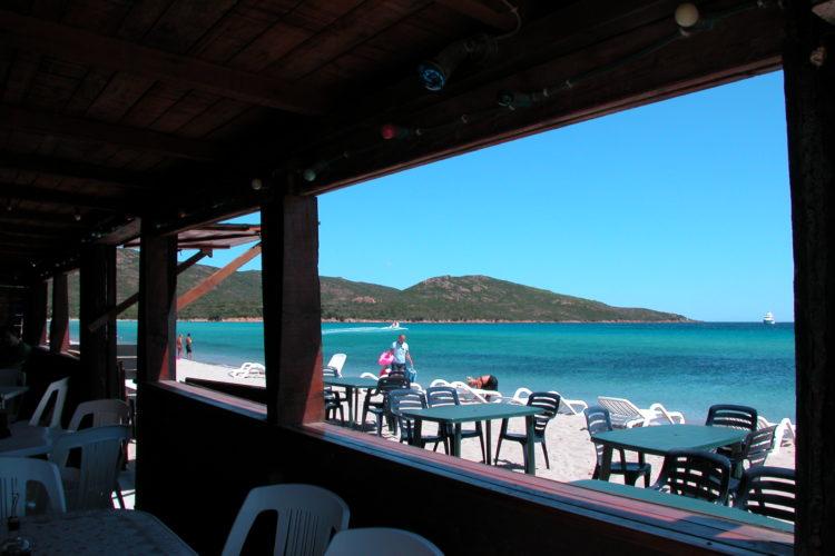 Plage, Balistra, restaurant, Bonifacio, Corse