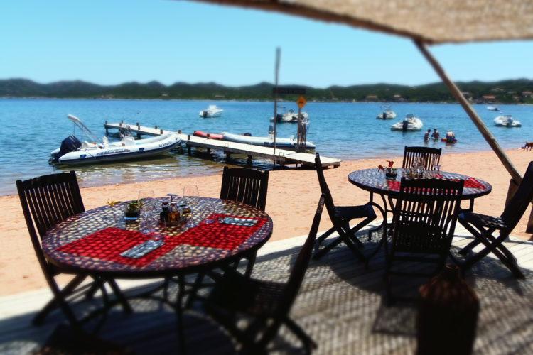 Plage, Maora, restaurant, Bonifacio, Corse