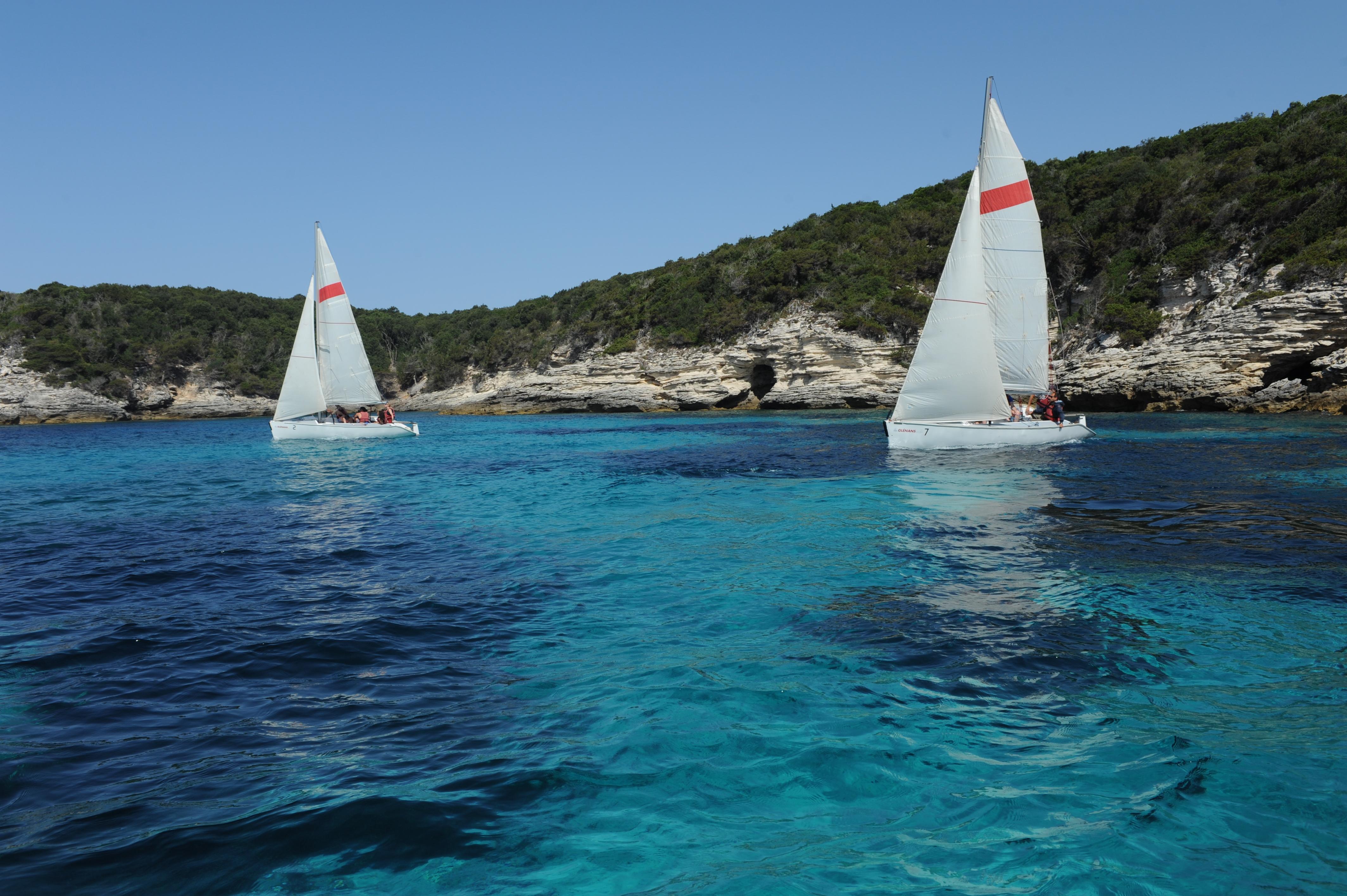Les Glenans Sailing School Tourist Office Of Bonifacio